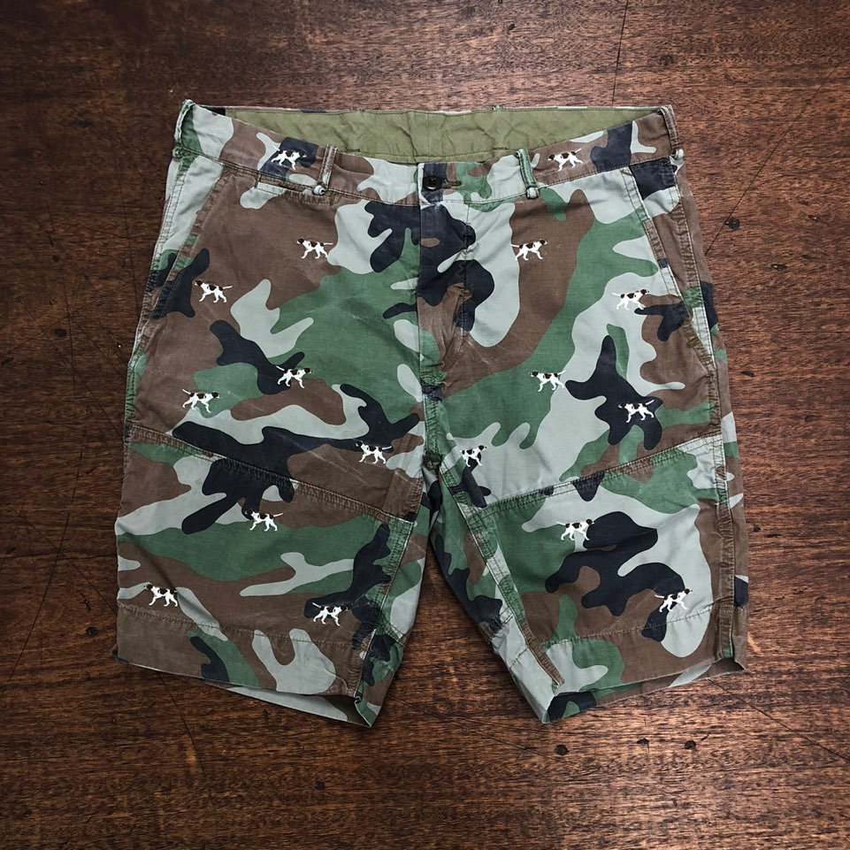 Polo ralph lauren camouflage dog embroidered shorts 36