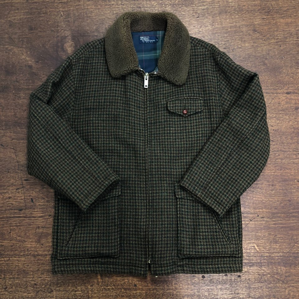 Polo ralph lauren houndtooth wool jacket L