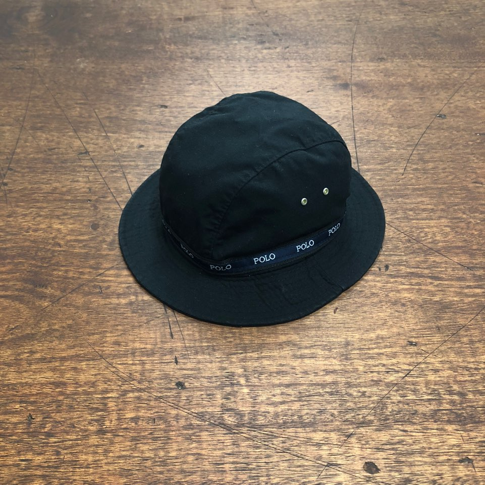 Polo sport black bucket hat