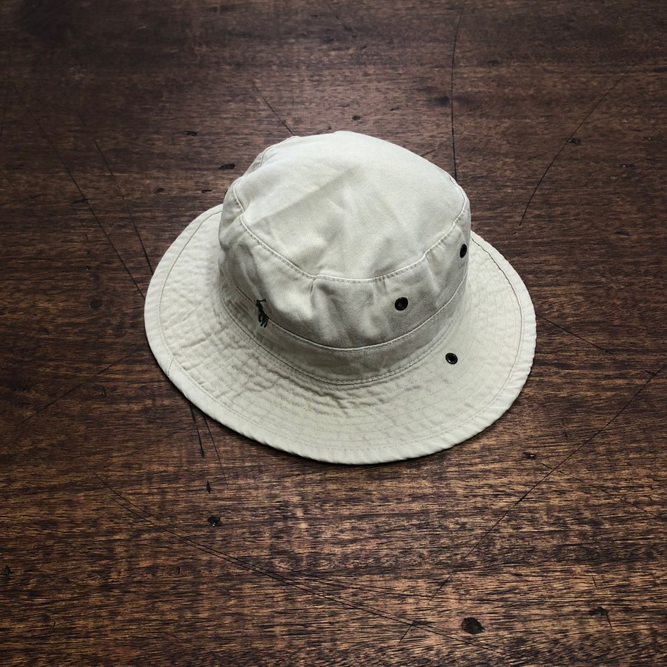 Polo ralph lauren beige bucket hat