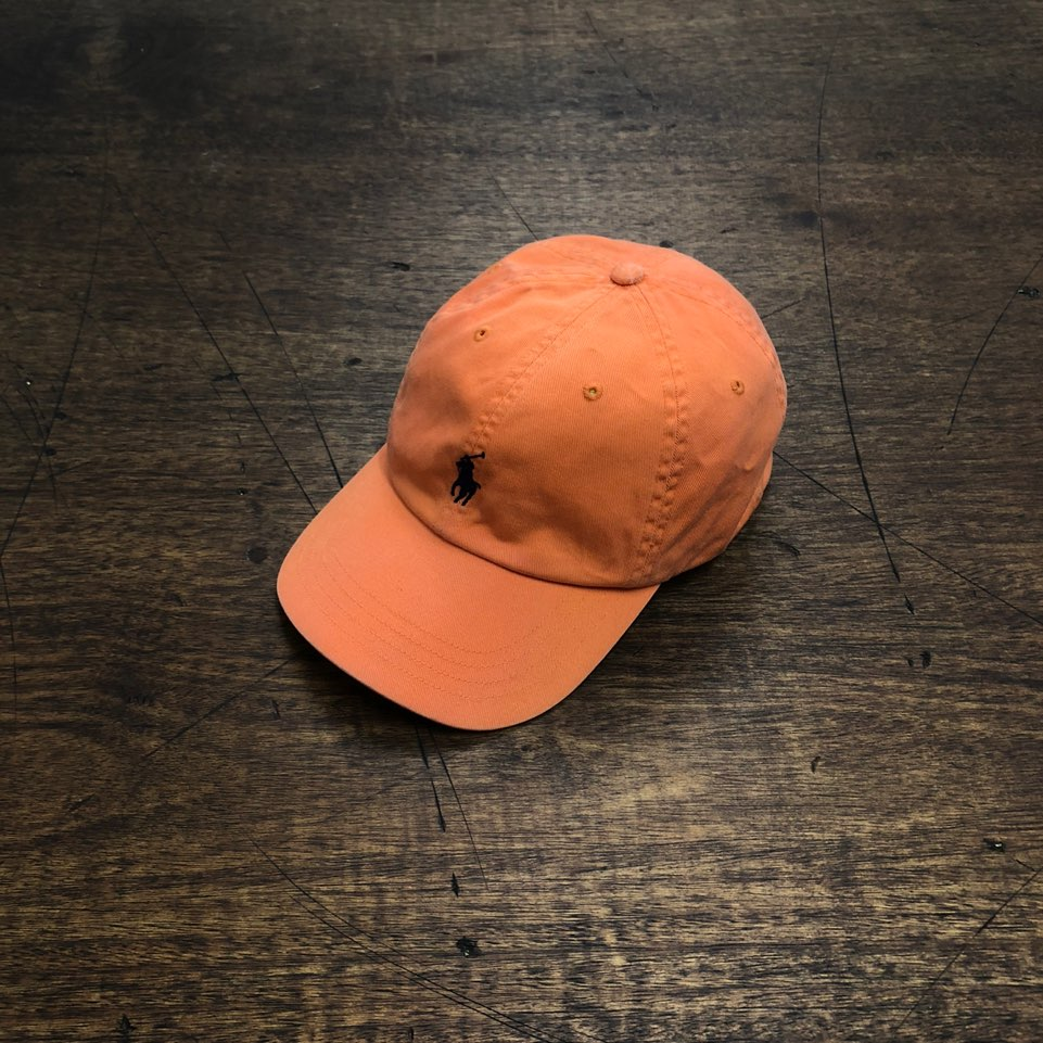 Polo ralph lauren orange pony cap