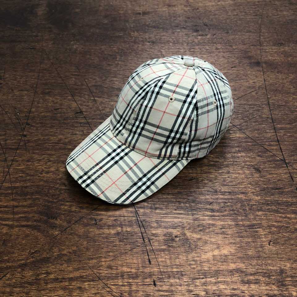 Burberry nova check ball cap