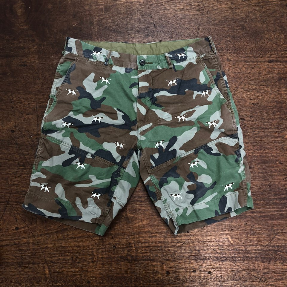 Polo ralph lauren camouflage dog embroidered shorts 35