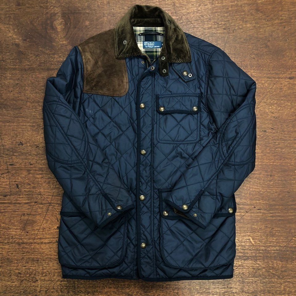 Polo ralph lauren navy quilted jacket M