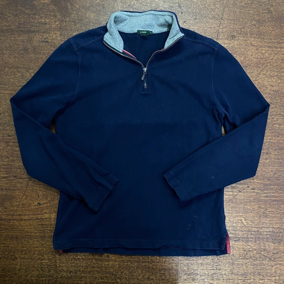 Jcrew navy cotton pullover S