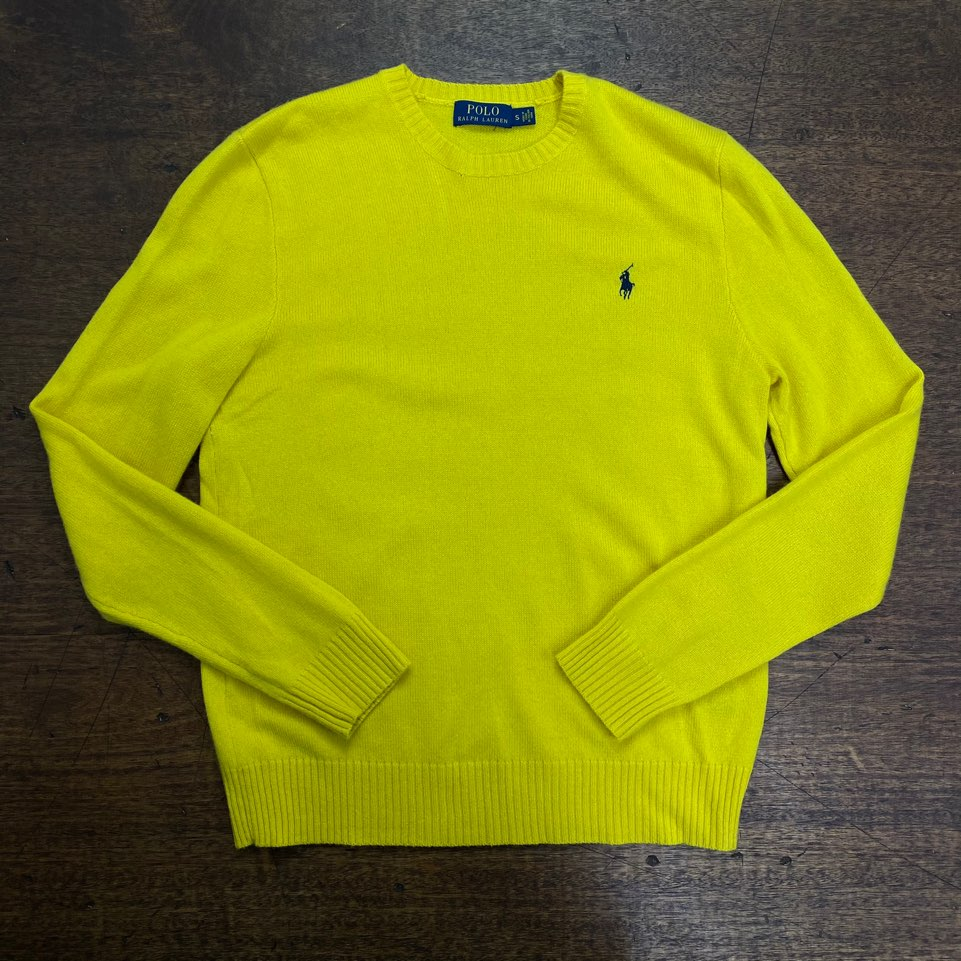Polo ralph lauren yellow crewneck cashmere sweater S