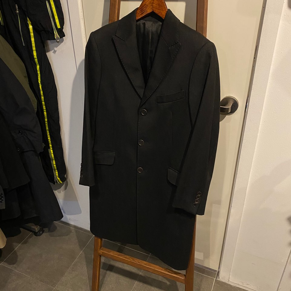 Loro piana black wool single coat 48S