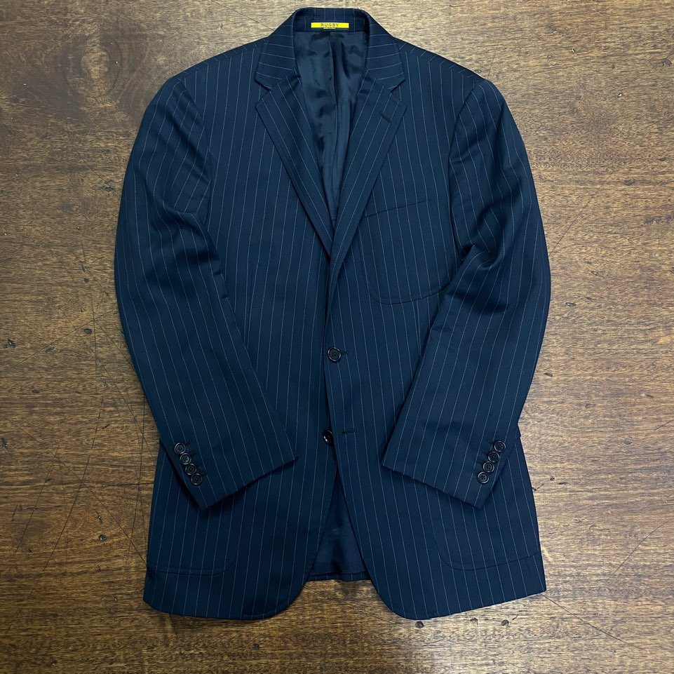 Rugby by ralph lauren navy stripe blazer 40R
