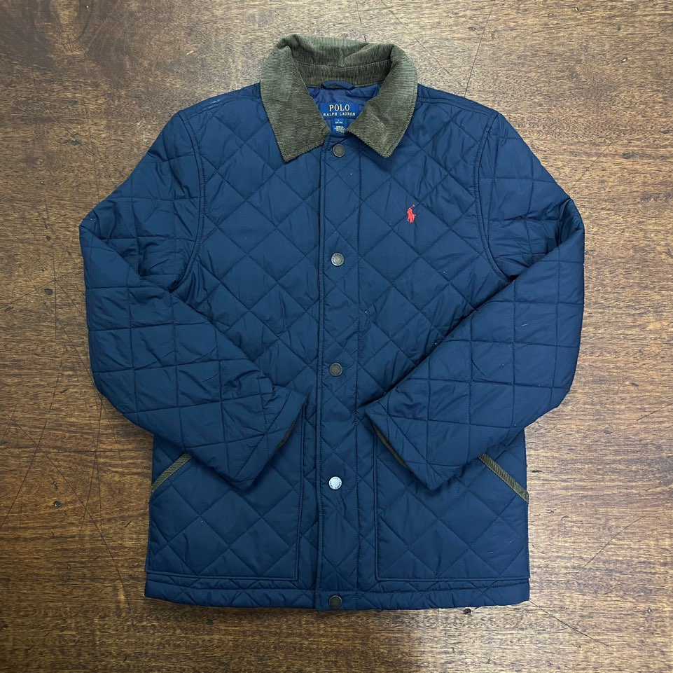 (여성용)Polo ralph lauren boy's navy quilted jacket L