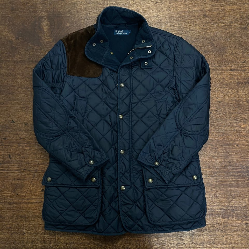 Polo ralph lauren navy quilted jacket L