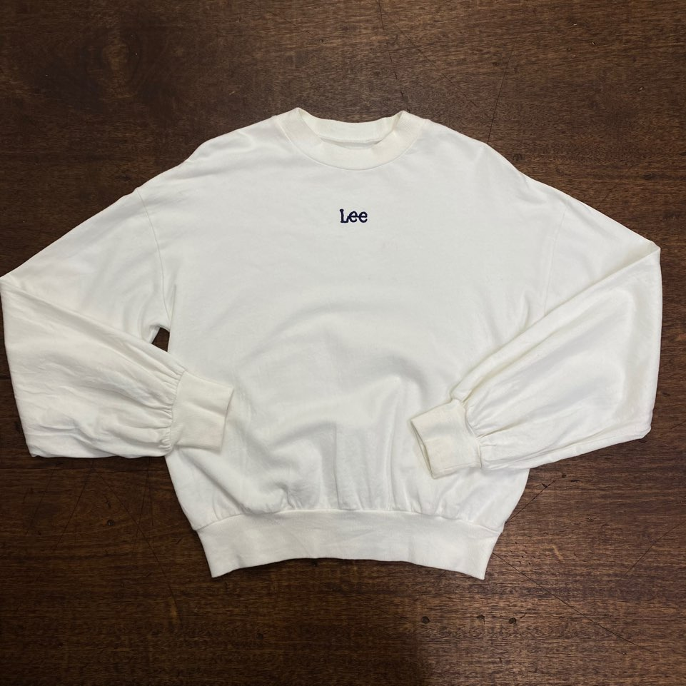(여성용)Lee white sweatshirt F