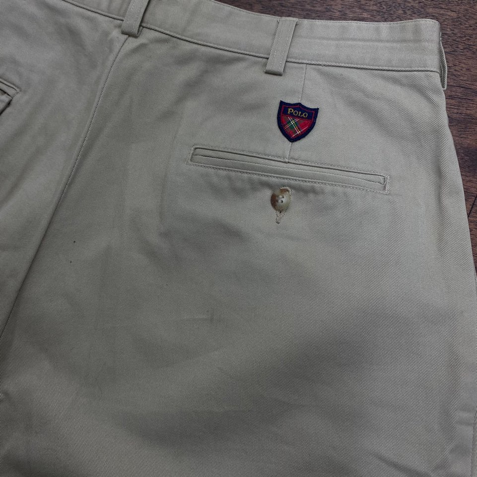 Polo gold beige cotton chino pants 86(32)#