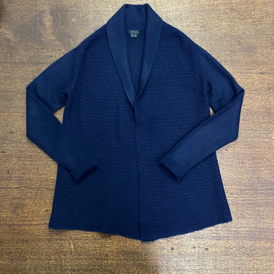 (여성용)Theory navy cashmere shawl collar cardigan M