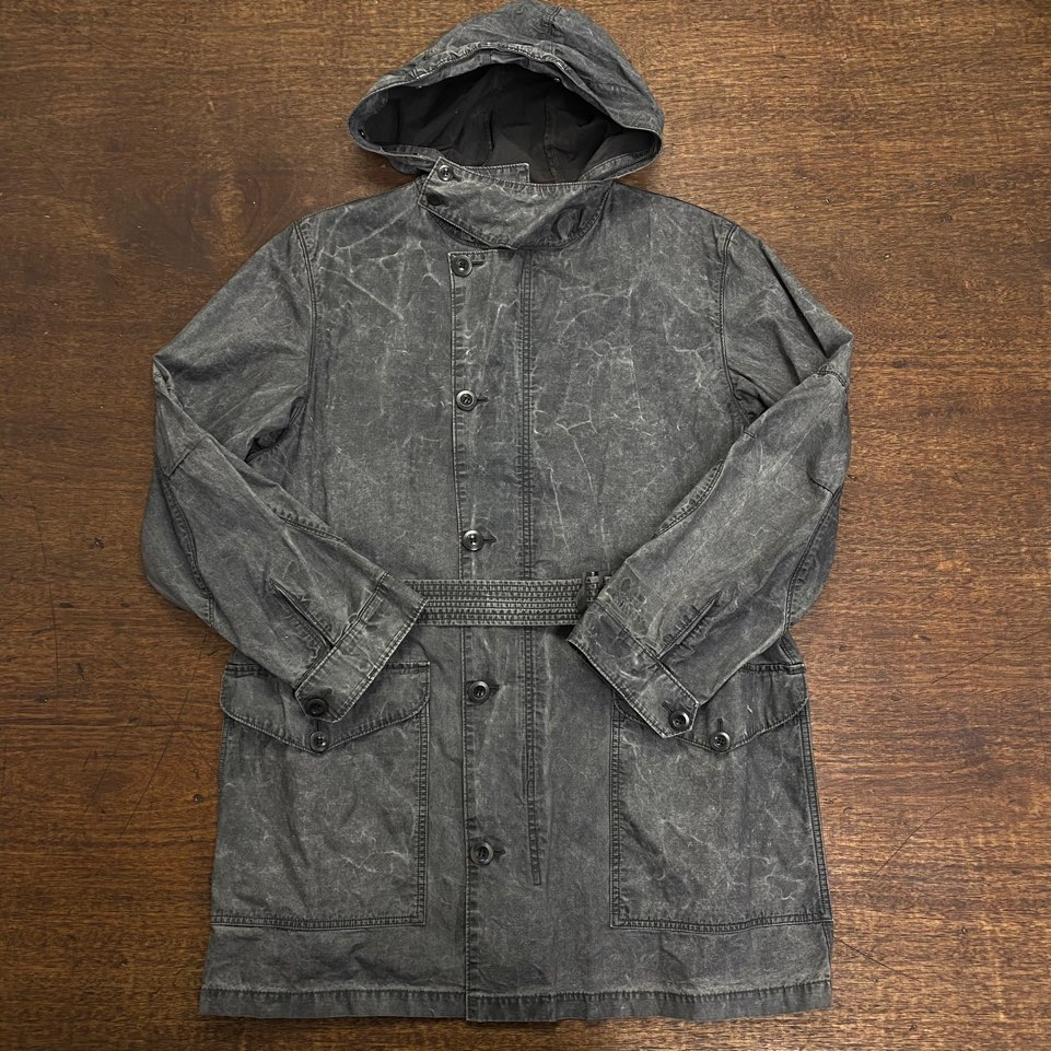 C.P Company gray cotton military belted coat 48