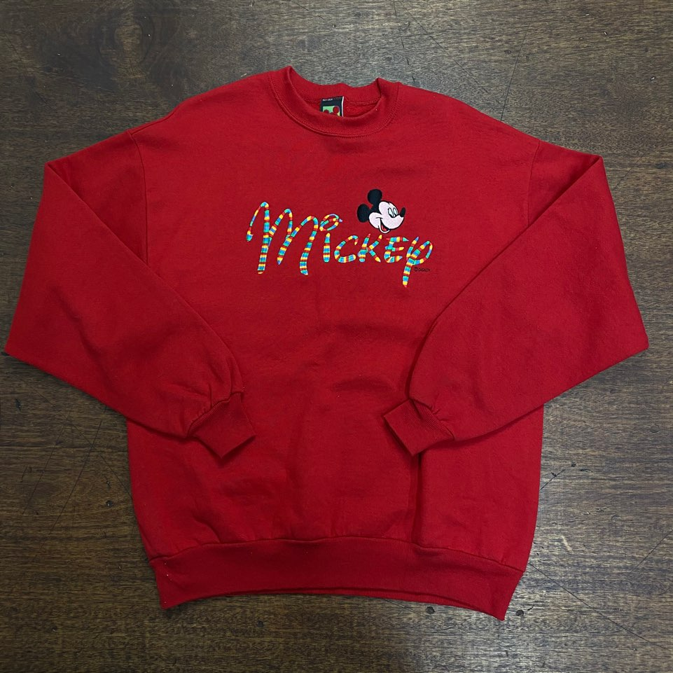 Mickey mouse red printing sweatshirt L