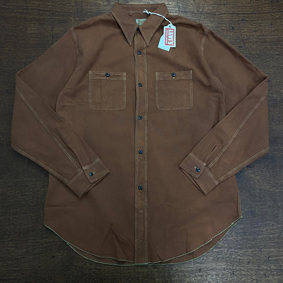 LVC brown deluxe work shirt XL