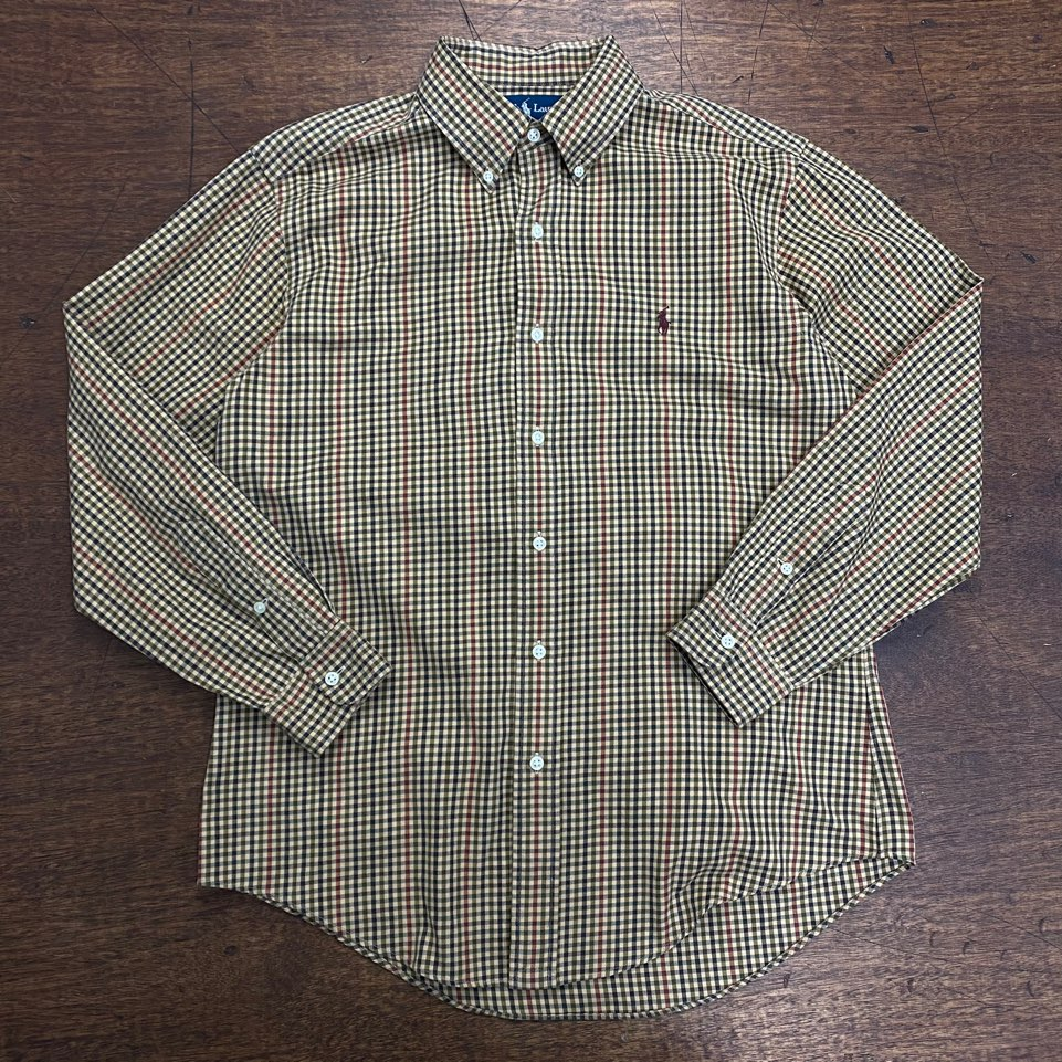 Polo ralph lauren brown check shirt M