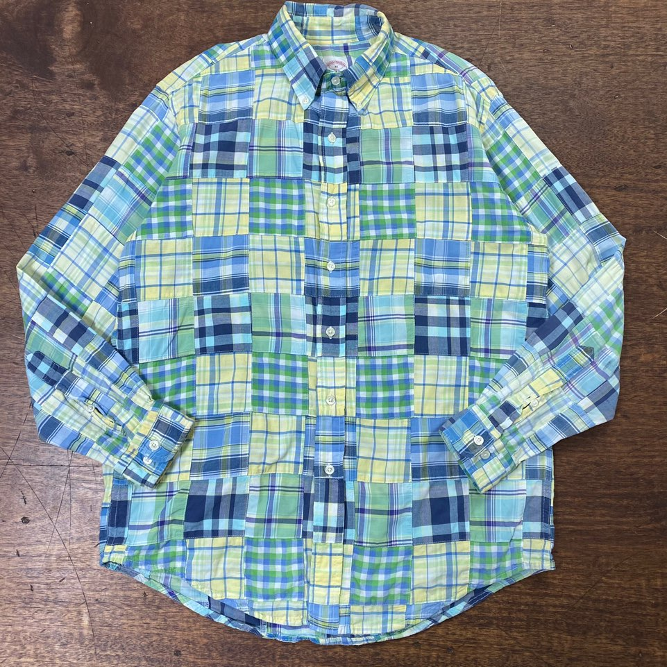 Brooks brothers patchwork shirt M