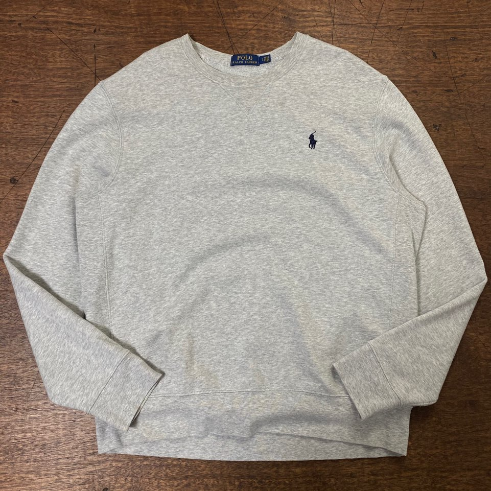 Polo ralph lauren light gray sweatshirt L