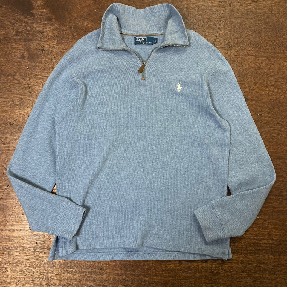 Polo ralph lauren skyblue cotton pullover M