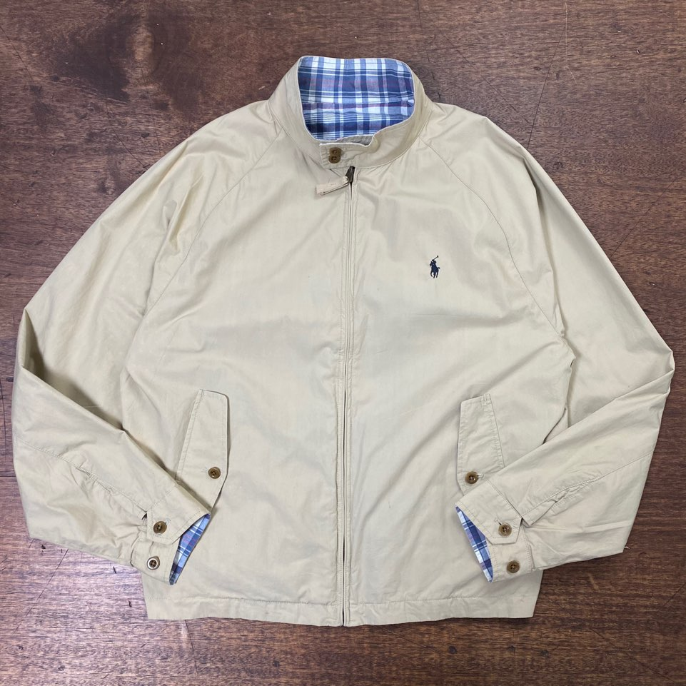 Polo ralph laruen reversible harrington jacket XXL