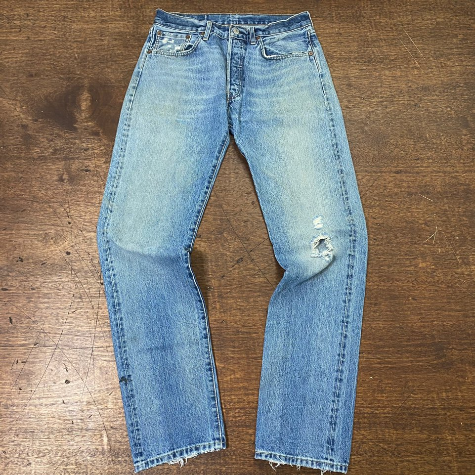 LVC 501 distressed selvedge jeans 32x34