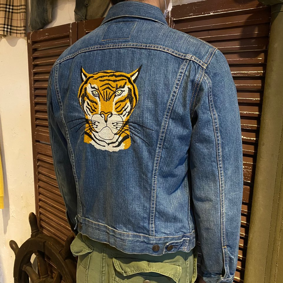 LVC tiger embroidery type 3 trucker jacket 40