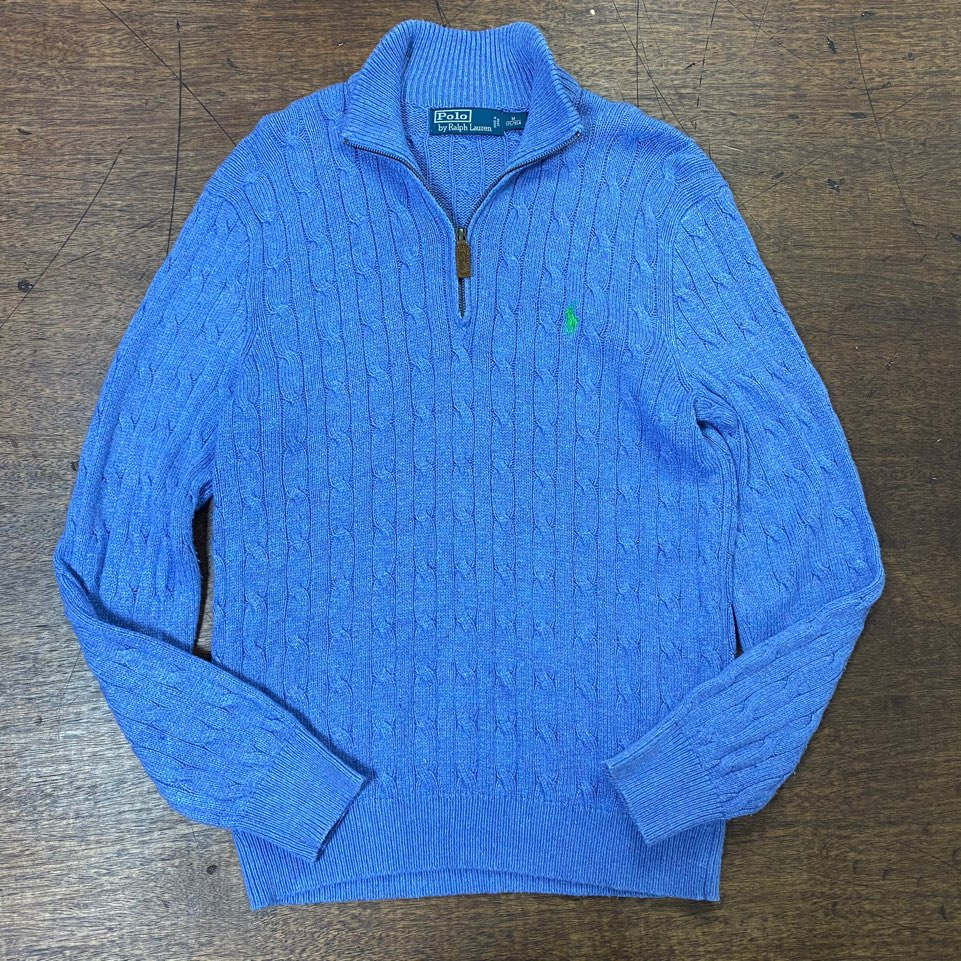 Polo ralph lauren skyblue silk pullover M