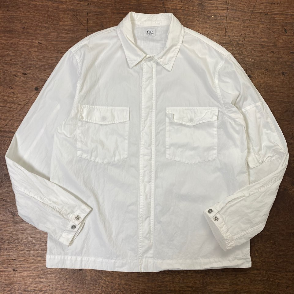 C.P. Company white cotton overshirt jacket 5